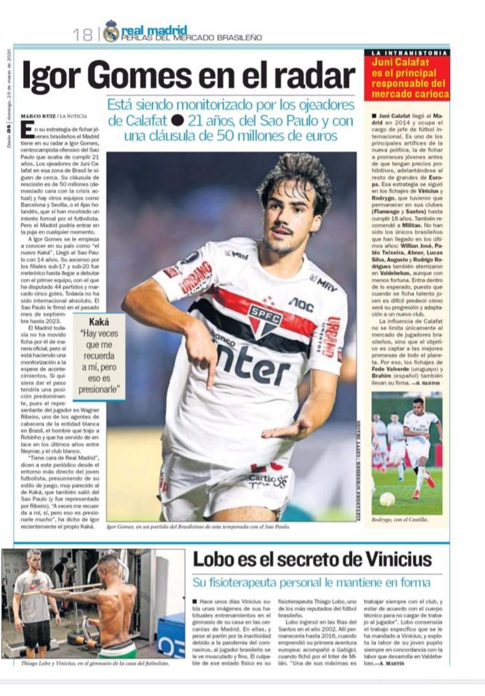 Real Madrid está de olho em Igor Gomes, do São Paulo: o